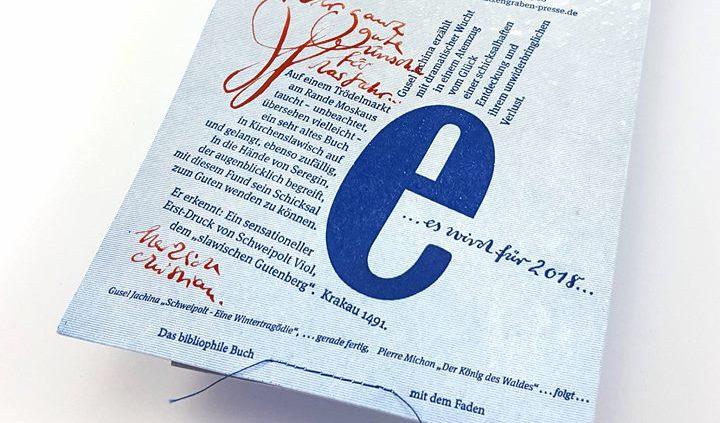 Christian Ewald von der Christian Ewald Katzengraben-Presse hat sich mit diesen Neujahrsgrüßen wiede...