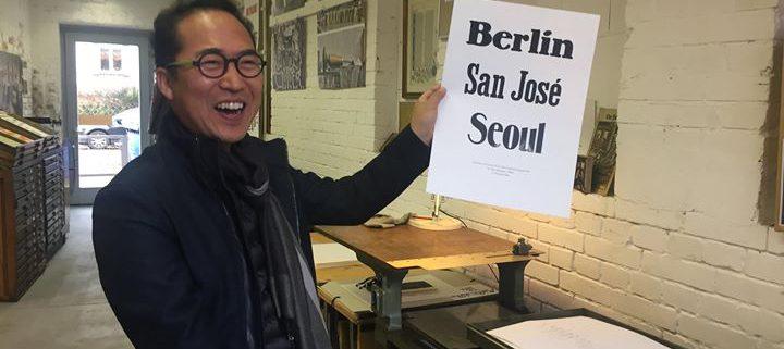 Das hat Spaß gemacht. Printsession mit Susanne Zippel und Chang Kim, Professor für Graphic- & Inform...