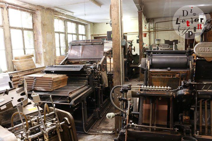 Das sieht man nicht alle Tage: Eine über 100 Jahre alte Buchdruckerei, die seit mindestens 10 Jahren...