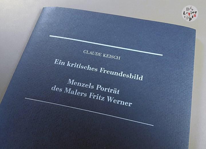 """Diese Broschüre verbindet das Beste aus neuen und klassischen Drucktechniken. """"Menzels Porträt des M..."""