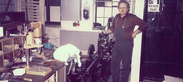 Herbert Klotz, Vater des Lettertypen Daniel Klotz, 1983 bei der Restaurierung unserer Schelter & Giesecke