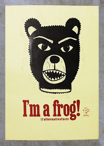 """Ich bin ein Frosch! I'm a frog! Heute haben wir spontan """"alternative Fakten"""" geschaffen.  #alternati..."""