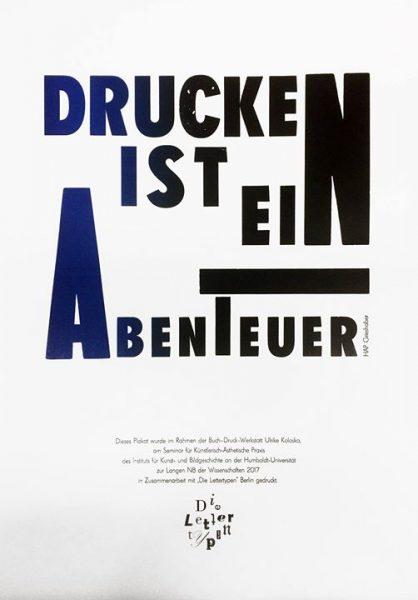 In der 17. Lange Nacht der Wissenschaften in Berlin + Potsdam präsentiert sich die BUCH-DRUCK-WERKST...