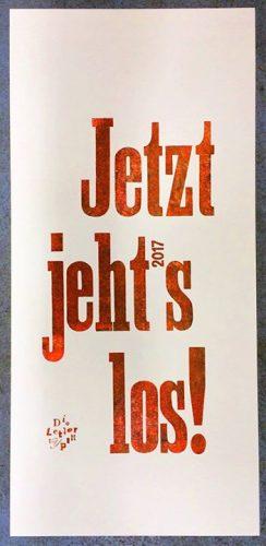 Jetzt jehts los _ here we go. Liebe Freunde und Kollegen. 2016 haben wir die Lettertypen als klassis...