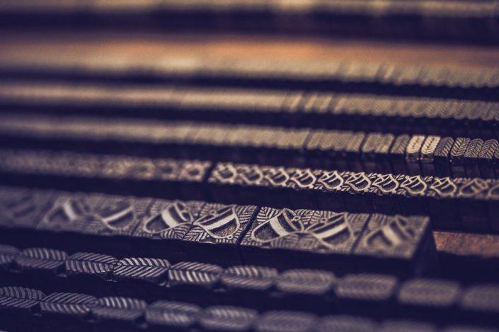 Schmuckelemente Lettertypen Handsatz Blei, Foto: Aileen Kapitza