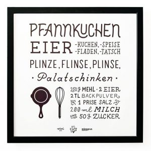 Unser Pancake-Letterpress-Plakat ist fertig! Die schönste Erfindung nach dem Kochen ist das Drucken,...