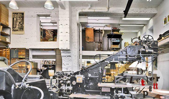 """Unsere Johannisberger Schnellpresse betreiben wir mit einem Kleim & Ungerer Anleger """"Universal"""" von ..."""