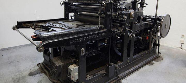 Unsere Schelter & Giesecke HA2 mit Stabausleger, Zylinderfärbung und zwei Auftragswalzen von 1925 is...