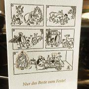 Zum Feste nur das Beste! Für das Erich Ohser Haus in Plauen druckten wir Weihnachtskarten mit einem ...
