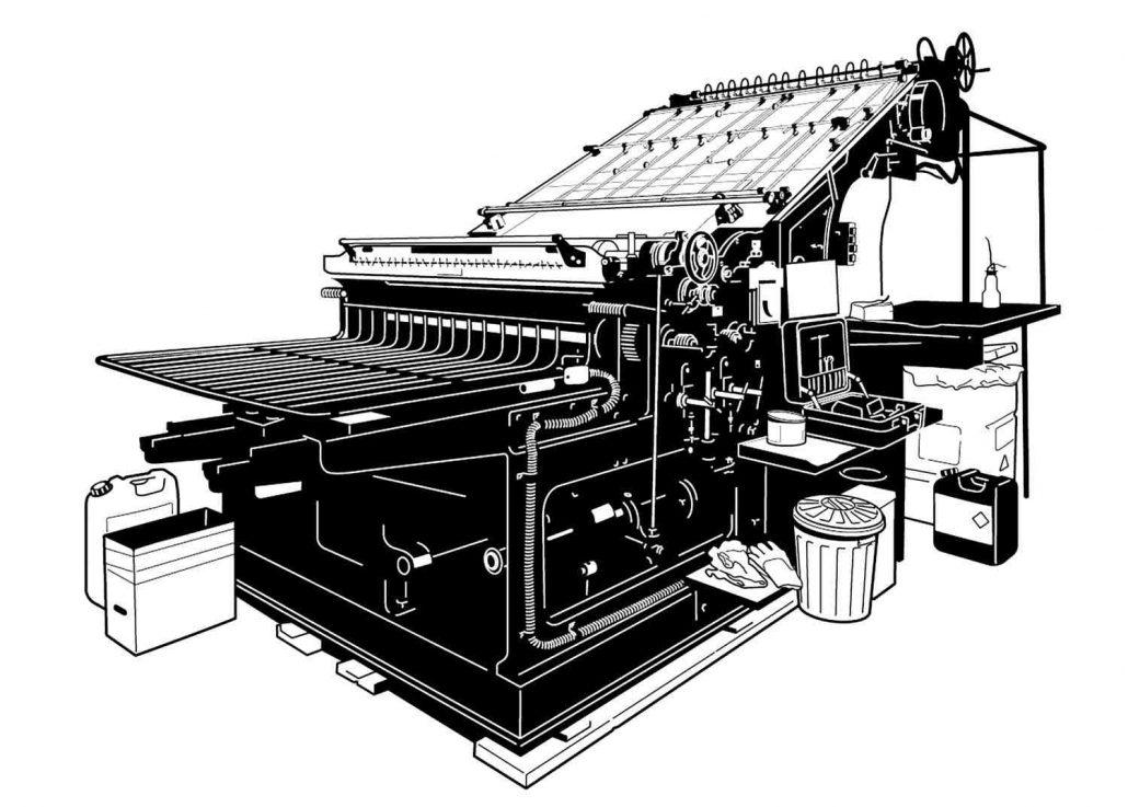 Johannisberger Schnellpresse; Grafik: Martin Baaske
