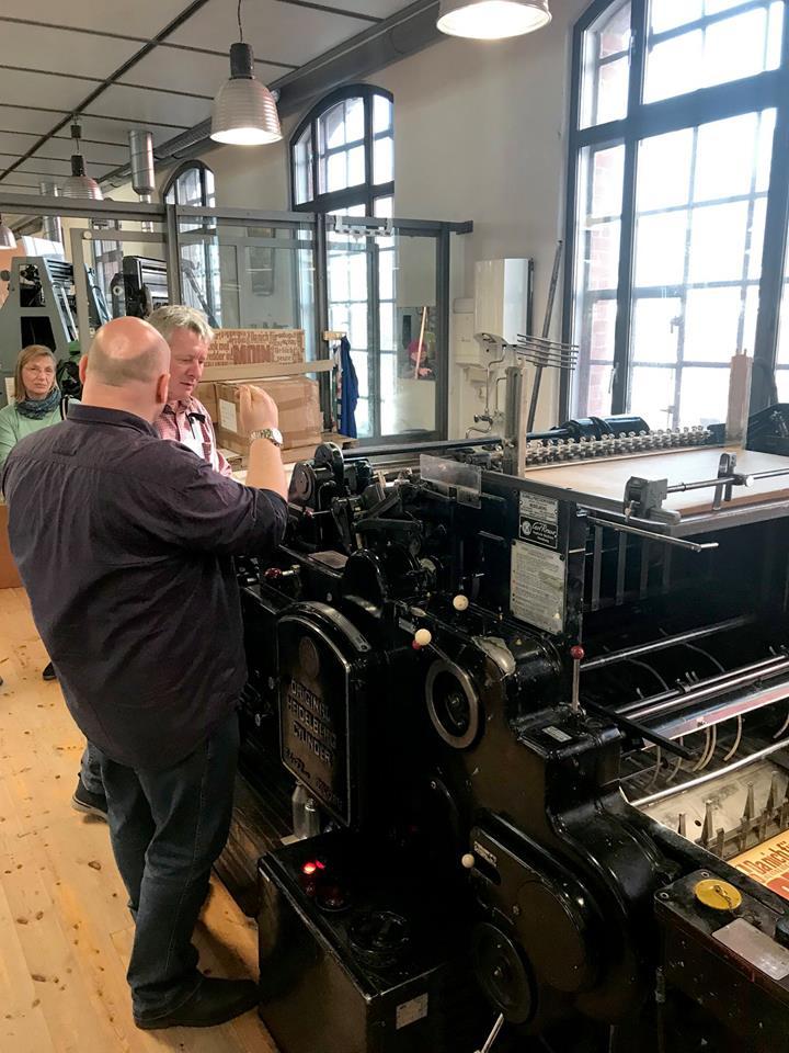 Original Heidelberger Cylinder, BuchDruckKunst 2019, Letterpress, Buchdruck